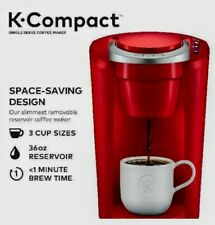 NIB! IMPERIAL RED Keurig K-Compact Single-Serve K-Cup Pod Coffee Pot Maker K35