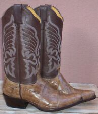 Very Exotic, Custom Hand Made, Giant Crocodile Belly Skin Boots, Size (7 1/2 B)