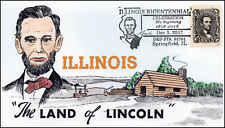 17-425, 2017, Illinois Bicentennial, Lincoln, Pictorial, Event cover, Springfiel