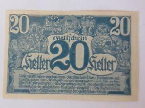 Notgeldschein 20 Heller  Oberöstrreich  1920  ♥  (20993)