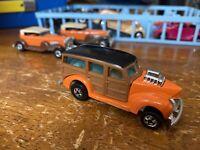 Vintage 1979 Hot Wheels Ford '40s Woodie Hi Rakers Orange Larry Wood Blackwall