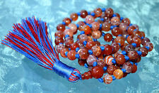 Meditation Mala Natural Red Fire Agate Japa Mala Improves Sexual Activity, Root