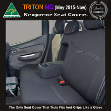 REAR Seat Covers Mitsubishi MQ Triton Premium Neoprene Waterproof 100% Fit