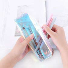 Women Colorful  Transparent Pencil Case Cosmetic Bag Makeup Pouch Case