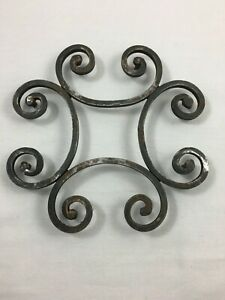 Vintage French Trivet Wrought Iron Kitchenware