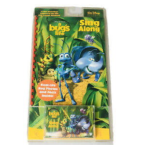 Disney Pixar A BUG'S LIFE Sing Along Book and Sing Along Cassette Tape NEW 1999
