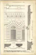 1879 Art Union Of London New Premises 112 Strand Upper Part Front Detail