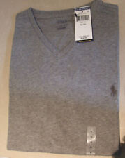 Polo Ralph Lauren BNWT Excellent V-Neck Grey Unisex Mens Ladies T-Shirt Sz XL