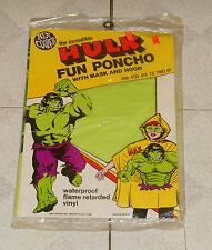 vintage Ben Cooper THE INCREDIBLE HULK FUN PONCHO Halloween costume MISP