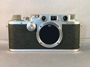 Vintage 1952 Leitz Leica IIIf Red Dial Camera