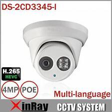 Hikvision DS-2CD3345-I 4MP EXIR Tourelle IR IP66 Extérieur POE Caméra Dôme 4mm