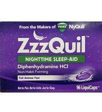ZzzQuil Nighttime Sleep-Aid 96 LiquiCaps Vicks NyQuil sleep aid EXP 02/2021
