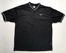 Vintage Nike White Tag Jersey T-shirt Top Embroidered Swoosh Men's Xl Black 90s