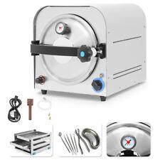 14 Liter Dental Autoclave Steam Sterilizer Medical Sterilizition Distilled Water