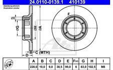 ATE Juego de 2 discos freno 228mm para RENAULT 5 4 6 12 17 15 18 24.0110-0139.1