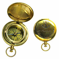 Messing Taschen Kompass im Taschenuhr Format  Neu