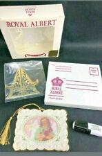Royal Albert Victorian Angel Bone China Christmas Postcard Ornament Gift Xmas