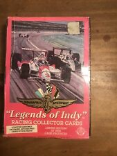 """1992 """"Legends of Indy"""" FACTORY SEALED racing Collector Cards Box Of 36 Packs"""