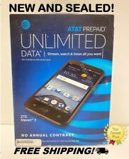 New! AT&T Prepaid ZTE Maven 3 4G LTE Smartphone Cell Phone (Z835PAYGO)