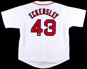 Dennis Eckersley Signed Red Sox Jersey (COA) 6x All Star &1992 MVP & Cy Young