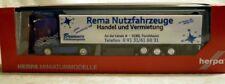 "Herpa 155830: Scania RTL Kühlkoffer-SZ ""Rema"", Fertigmodell in H0, NEU & OVP"