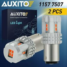 12K AUXITO Red 1157 BAY15D Super Bright Tail Stop Brake Light LED Bulb Pair 7507
