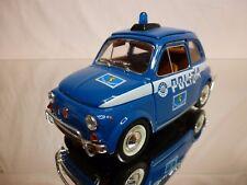 BBURAGO  30130 FIAT 500L - POLIZIA STRADALE - BLUE  1:21 - GOOD CONDITION