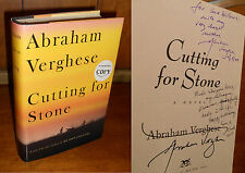 Signed, Inscribed, Dated 1st/1st ~ Cutting for Stone by Abraham Verghese (2009)