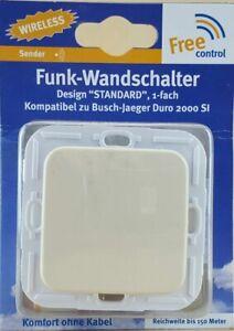 KOPP Free Control Funk-Wandschalter Design Standard Creme 1fach 822701181 O10-78