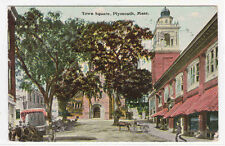 Town Square Plymouth Massachusetts 1911 postcard