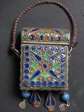 Porte-Coran Berbère en métal émaillé du Maghreb