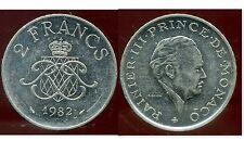 MONACO 2 francs 1982  ( bis )