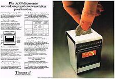 PUBLICITE  1977   THERMOR  cuisinière gazinière (2 pages)