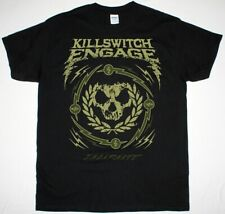 KILLSWITCH ENGAGE SKULL WREATH BLACK T SHIRT METALCORE ALL THAT REMAINS