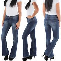 SOTALA Jeans Bootcut Schlaghose Damen Stretchhose Flared Damenhose Hose Blau