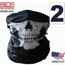 2 pc lot Head Scarf Skull Face Mask Mouth Mask Biker Cycling Headband Kerchief