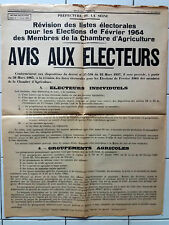 Affiche ancienne Election Agriculture Original French Vintage Poster Farming