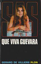 Livre de poche policier SAS que viva guevara G. de Villiers book