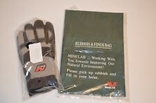 NEW Minelab X-Large Digging Glovesand Treasure Finds Pouch Bag Metal Detecting