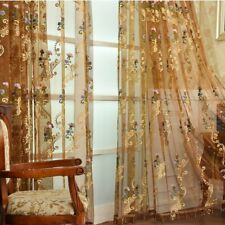 Damascus Embroidery Net Curtains Pelmet Lace Tulle Voile Window Panel Fairy Home