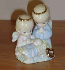 Enesco Precious Moments Angels & Baby Jesus porcelain Christmas Ornament 1997
