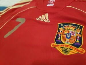 Preciosa Camiseta Retro David Villa 7 Euro 2008 Selección Española