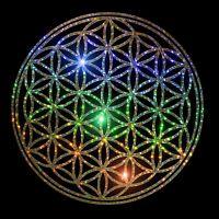 Flower of Life Sparkling Gold Sacred Geometry Sticker