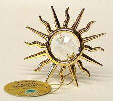 G 4095 Gold Sonne Sun Fenster Swarovski Steine Kristall 24 Karat Crystal 7,5 cm