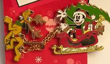 Holiday Sleigh Mickey & Pluto Pin
