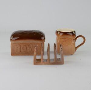 Carlton Ware, Hovis, Cup, Toast Rack, Lidded Jar