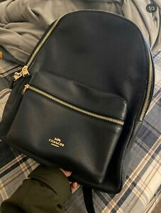 NWT Coach Large Brand-New Charlie Leather Backpack in Black