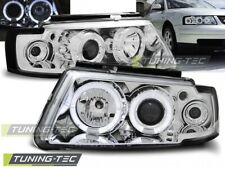 Headlights For VW PASSAT B5 3B 11.96-08.00 ANGEL EYES CHROME..