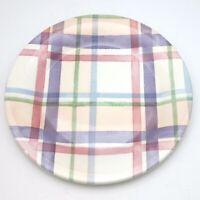 Portmeirion Amabel Tartan Salad Plate Cottagecore Pink Lot of 6