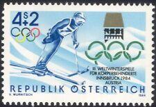 Austria 1984 Disabled Winter Games/Skiing/Paralympics/Sports/Skier 1v (at1008a)